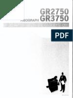 GR 3750 User Guide
