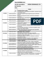 CARTEL de CONTENIDOS 2019 Educación Física 4to y 5to de Secundadria