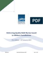 Delivering quality bulk marine gasoil