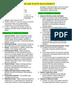 Healthcare Waste Management Handout