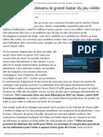 Billet _ Steam Est Devenu Le Grand Bazar Du Jeu Vidéo - Actualités - Jeuxvideo.com