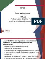 Obras por impuestos.  Perú