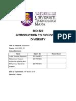 BIO 320 Lab report 1