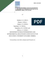 Factors Responsible for Malnutrition