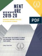 CBS Placement Brochure 2019-20