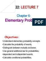 BU522 Lecture 7 Elementay Probability 2019