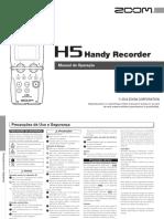 Manual Gravador Zoom H5 Português