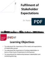 Week 6 Stakeholder Expectations- Scenario Building and Forecasting