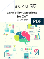 Divisibility Questions for CAT PDF