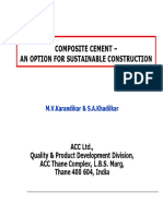 Composite Cement -An Option for Sustainable Construction
