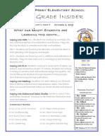 4th grade newsletter october