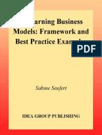 [Sabine Seufert] E-Learning Business Models Frame
