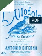 Biferno L'allodola Mazurka fantastica