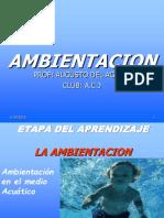 Ambientación en el medio acuático