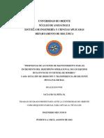 PROPUESTAS DE ACCIONES DE MANTENIMIENTO PARA EL INCREMENTO DEL DESEMPEÑO OPERACIONAL DE LOS EQUIPOS ROTATIVOS DE UN SISTEMA DE BOMBEO