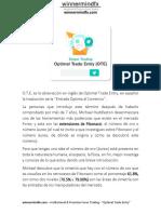 12) Ote - Optimal Trade Entry