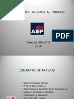 Legislación Aplicada Al Trabajo-Agosto 2019