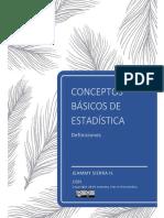 Introducción Estadística (conceptos)
