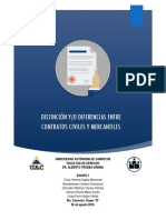 Distincion entre contratos mercantiles y civiles
