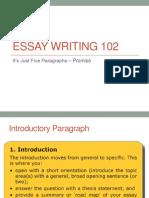 Essay Writing 102