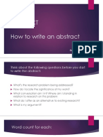 2-How to Write an Abstract