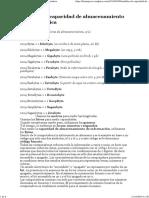 Medidas de Capacidad de Almacenamiento en Informática