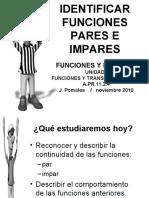 Identificar Funciones Pares e Impares Version Blog 2010 blanco y negro
