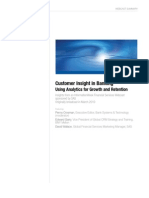 Customer Insight in Banking Using Analytics for Growth and Retention