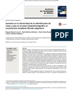 Aumento en la efectividad de la identificación de cimas y pies en el  pulso  fotopletismográfico  al reconstruirlo  mediante  filtrado  adaptativo
