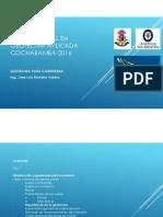 Diplomado Semipresencial en Geotecnia Aplicada- Cochabamba-2016