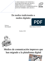 De Medios Tradicionales a Medios Digitales