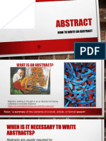 1-How to Write an Abstract