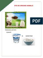 Alimente de Origine Animală