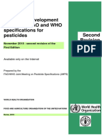 WHO Specification for pesticides