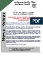 Arpaio Immigration Posse News Release