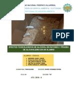 Informe 2 Alcoholes - Toxicologia