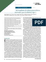 Presente y Futuro Del Trasplante de Islotes Pancreáticos