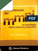 Interpretacion del MMPI EN PSICOLOGIA CLINICA