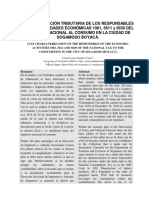 Articulo Caracterizacion Tributaria de Los Responsables de Las Actividades Economicas 1081 5611 y 5630 Del Inc en La Ciudad de Sogamoso Boyaca