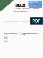 Simulado Matemática 7º Ano - Razão, Proporção, Grandezas Diretas e Inversas e Áreas Dos Quadriláteros