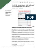 ICMS_SP_ Varejo Ainda Pode Utilizar Nota Fiscal de Venda a Consumidor_ - Siga o Fisco