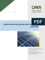 Boletim Mensal de Geração Solar 2019-07