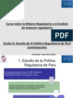 Sesión 8 - Estudio de La Política Regulatoria de Perú (Continuación)