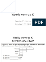 weekly warm-up