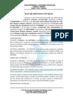 modelo Contrato de Servicios Contables