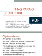 Marketing para o sec. XXI