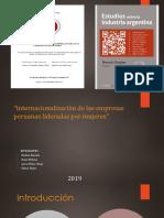 Internacionalización de las empresas peruanas lideradas por mujeres