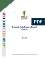 Conclusion Protocolo de Prueba Raspador Sempertrans 220CV003