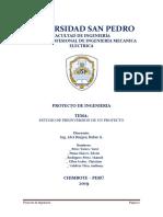 ESTUDIO DE PREINVERSION DE UN PROYECTO