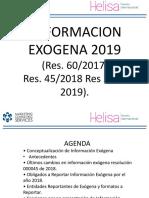 Memorias  Información Exogena 2019